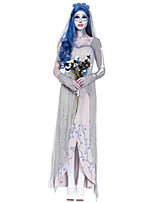 Costumes Ghost Halloween Gray Solid Terylene Dress / More Accessories