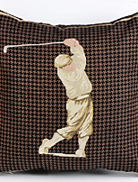 Linen Pillow Cover/Case ,  Woven Traditional/Classic Golf Style  Feature