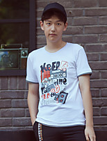 WOWTEE Men's Round Neck Short Sleeve T Shirt White / Pink-WT-TX012-1