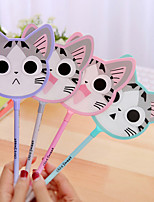 12 PCS Cheese Cat Fan Black Ink Gel Pen