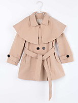 Girl's Casual/Daily Solid Down & Cotton Padded,Cotton Winter / Fall Brown