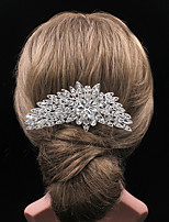 Luxurious High-end Flower Rhinestone Comb