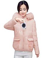 Women's Winter Slim Joker Padded Coat Fall Casual Street Long Sleeve Hooded Coat