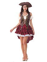Costumes More Costumes Halloween Wine Red Patchwork Terylene Dress / More Accessories