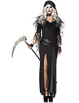 Costumes Vampires Halloween Black Solid Terylene Dress / More Accessories