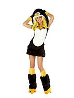 Costumes Uniforms Halloween Black Patchwork Terylene Dress / Earring