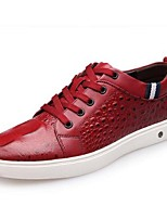 Men's Sneakers Spring Summer Fall Leather Casual Flat Heel Others Black Red