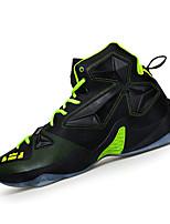 Homme-Sport-Jaune / Vert / Rouge / Argent / Noir et rouge-Talon Plat-Confort-Sneakers-Synthétique