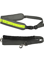 Dog Leash Reflective / Adjustable/Retractable / Running Gray Mesh