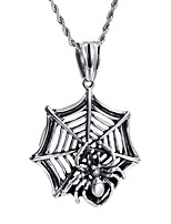Kalen® New Personalised Cool 316L Stainless Steel Spider Web Pendant 76cm Long Chain Necklace  Gifts