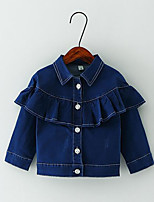 Girl's Casual/Daily Solid BlouseCotton Spring / Fall Blue