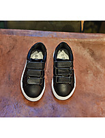 Boy's Flats Fall Mary Jane Leather Outdoor Flat Heel Others Black / White / Silver Others