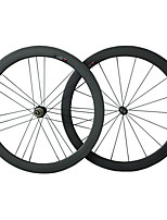50C-23mm R36 G3 Carbon Fiber 700c Road Bike Wheelsets Clincher 3k Weave Clear /Matte Finish Wheels with 9/10/11S