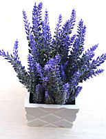 1PC Household Artificial Flowers Sitting Room Adornment Flowers Plastic Lavender Artificial  Flowers