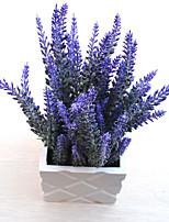 1 1 Филиал Пластик Светло-голубой Букеты на стол Искусственные Цветы 35cm