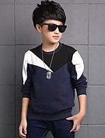 Boy's Casual/Daily Print TeeCotton Winter Blue