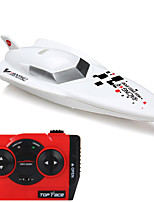 Schnellboot CREATE 3312 / Rennen RC Boot Bürster Elektromotor 4ch 2.4G / Plastic, Electronic components white