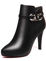 Women's Boots Spring/Fall/Winter Fashion Boots/Combat Boots Synthetic Office & Career/Casual Stiletto Heel Black/Red
