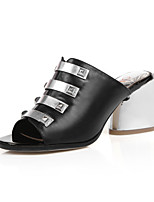Women's Sandals Summer PU Casual Chunky Heel Others Black Blue Nude Others