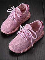 Girl's Sneakers Fall Comfort / Round Toe Canvas Casual Flat Heel Lace-up Black / Blue / Pink Others
