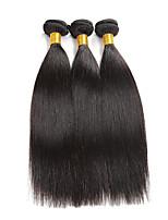 3 Bundles/150g Indian Virgin Hair 3 Bundles Silk Straight Human Hair Weave Indian Virgin Hair Can be Dyed