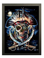 3D Lenticular Arts Pirate skull jolly roger pirates