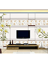 Damask Floral Geometric Stripe Art Deco Tile Solid Wallpaper For Home Luxury