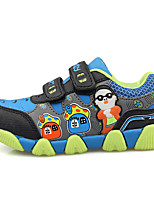 Boy's Sneakers Spring / Fall Comfort PU Casual Flat Heel Blue / Yellow / Green / Orange Sneaker
