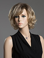 Short Side Bang Refreshing Human Hair Wig For Women