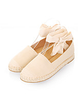 Women's Flats Spring / Summer / Fall Creepers PU Casual Flat Heel Others Black / Almond Others