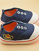 Unisex Sneakers Fall Flats Canvas Casual Flat Heel Others Blue / Red / White Walking / Sneaker