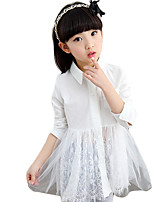 Girl's Casual/Daily Solid DressPolyester Spring Green / Pink / White