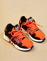 Unisex-Sneaker-Lässig-Tüll-Flacher AbsatzSchwarz Grau Orange