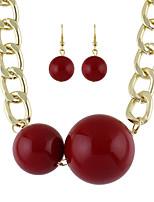 Fashion Acrylic Beads Necklace Earrings Set