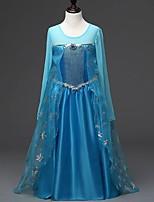 Blue Long sleeve Flower Girl Dresses Pageant Dresses For Girls Party Dress Halloween dress Vestidos