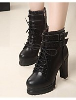 Women's Boots Spring / Summer / Fall / Winter Combat Boots PU Outdoor Chunky Heel Buckle /