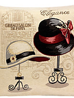 linge oreiller couverture / cas, traditionnel / classique tissés chapeaux de dame disposent