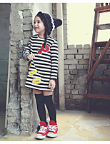 Girl's Casual/Daily Striped Overall & JumpsuitCotton Winter / Fall Black