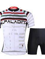 PALADIN® Maillot de Ciclismo con Shorts Hombres Mangas cortas BicicletaTranspirable / Secado rápido / Resistente a los UV / Compresión /