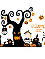 Wall Stickers Wall Decals Happy Halloween Feature Removable Washable PVC