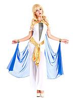 Costumes Plus de costumes Halloween Blanc / Bleu Couleur Pleine Térylène Robe / Plus d'accessoires