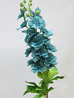 Set of 1 PCS 1 Une succursale Polyester Delphiniums / Marguerites Fleur de Table Fleurs artificielles 35.2