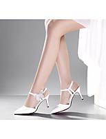 Черный / Белый-Женский-На каждый день-Резина-На шпилькеОбувь на каблуках