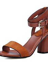 Women's Sandals Summer Platform Leather Casual Chunky Heel Others Black / Brown Others