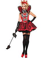 Costumes de Cosplay / Costume de Soirée Reine Fête / Célébration Déguisement Halloween Rouge Mosaïque Robe / Plus d'accessoires Halloween