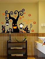 Wall Stickers Halloween Pumpkins Strap Glass Backdrop Decoration Shop Window Stickers