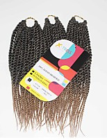 Senegal Twist Black Blonde 1b/27 Synthetic Hair Braids 12inch Kanekalon 81 Strands 125g  Multipal Pack for Full Heads