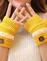 Women Knitwear Fingerless Wrist LengthSolid Casual Winter
