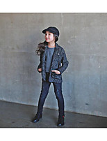Girl's Casual/Daily Striped Suit & BlazerPolyester Winter / Fall Black
