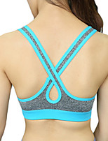 Women's Sexy Racerback Sports Bra Wireless Push Up Quick Dry Underwear Fitness Running Yoga Tops